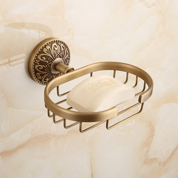 Bathroom hardware accessories Soap blasket holder brass dish antique soap holder soap box bathroom soap shelf holder image