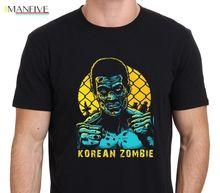 Korean Zombie Mens T-shirt O-Neck T Shirt Harajuku Tops Tees Oversize Style Tee Shirts Styles Basic Models