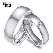 Классические обручальные кольца vnox для женщин и мужчин персонализированное