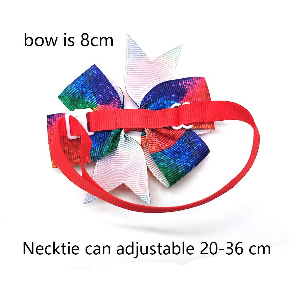 Image 5 - 30 Pcs Pet Dog Cat Bow Tie Colorful Spring Bowknot Adjustable Pet Collaar Bow Tie Necktie Dog Accessories Pet SupplierDog Accessories   -