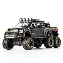 1:32 גדול להרים דגם צעצוע רכב עבור פורד F150 Raptor קול אור הזזה רכב עם אופנוע לילדים צעצועים מתנות משלוח חינם