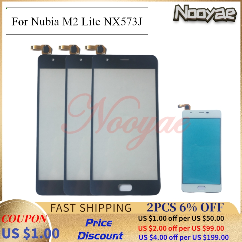 Black/White Sensor Screen For ZTE Nubia M2 Lite NX573J Touch Screen Digitizer Glass Panel Screen Replacement + tracking(China)
