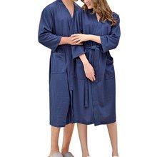 Пикантный женский халат однотонное женское кимоно банная рубашка
