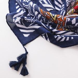 Image 5 - Frühling und Sommer Neue Korea Retro Nationalen Stil Thailand Reise Sonnencreme Schals Geometrische Schal Schals für Frau