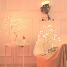 LED ليلة ضوء شجرة عيد الميلاد مصغرة الأسلاك النحاسية جارلاند مصباح للمنزل الاطفال ديكور غرفة نوم الجنية أضواء Luminary عطلة الإضاءة
