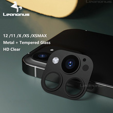 Voor Iphone 12 Om 12 Pro Camera Lens Film Metalen Lens Cover Voor Apple Xs 11 Tot 12 Pro Xs max 12 Pro Len Film Gehard Glas