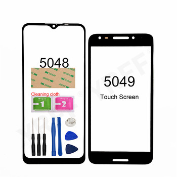 For Alcatel 3X 2019 5048 Front Screen Glass Panel (No Touch Screen) For Alcatel A30 Fierce 5049 OT5049 Outer Glass Pancel Cover image