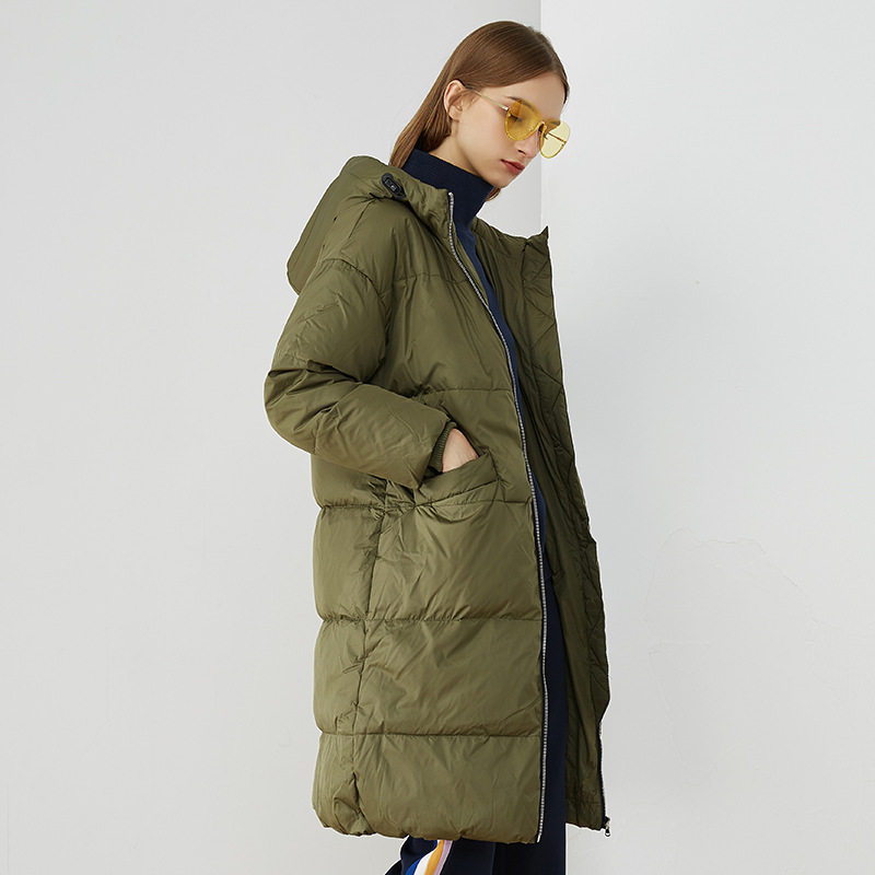 Winter Jacket Women Down Coat Female Thick White Duck Down Jacket Woman Long Coats Warm Hooded Clothes 2020 Hiver DA85319