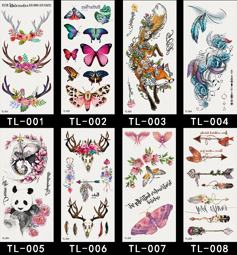 DPRADOSUN Body Art Metallic Temporary Tattoo Flower Beauty Tattoo Stickers