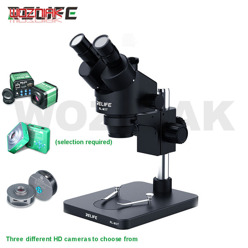 0.7-4.5X HD Trinocular Stereo Soldering Microscope Stand Lens Digital Camera For PCB Boards Electronic Components Phone Repair