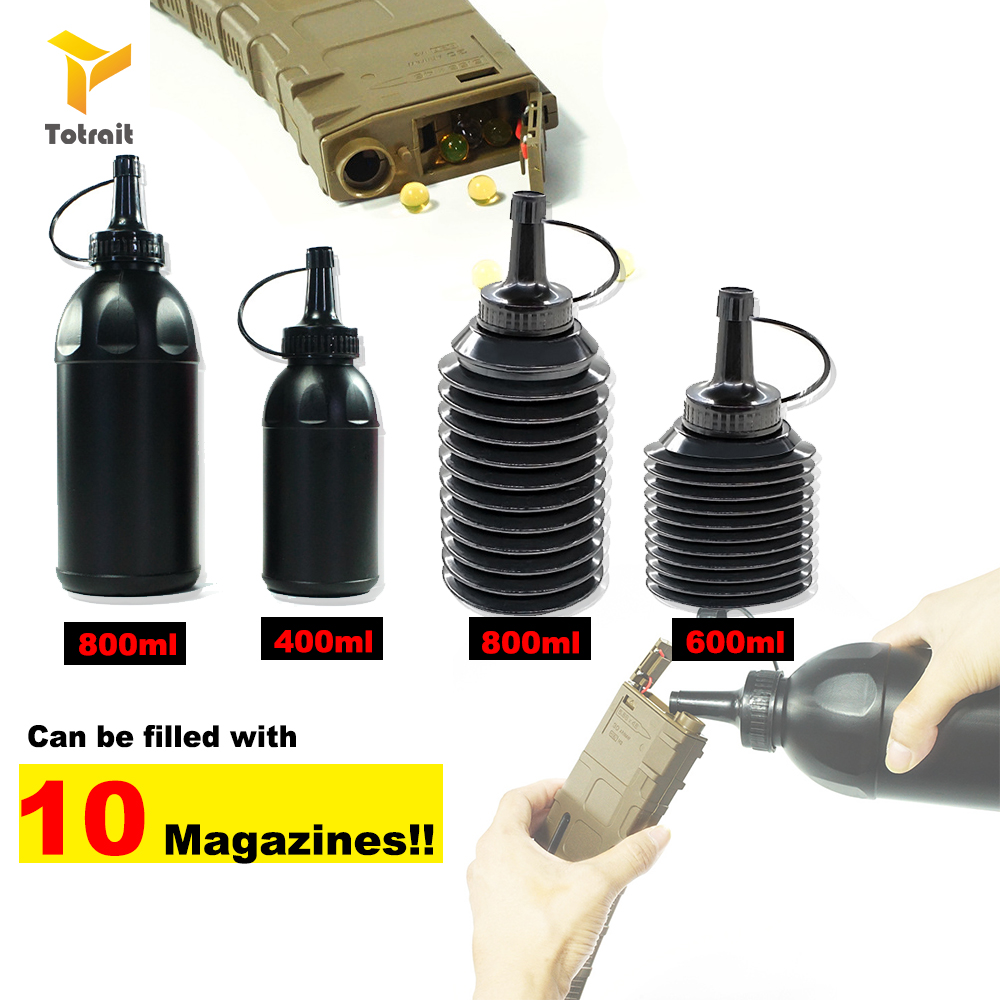 Paintball 400ML/600ML/800ML Speed BB Gun Loader Expandable Bottle Military Shooting BB Balls Hunnting And Equipment Accessory