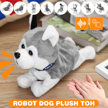 Electronic Robot Dog Kids Plush Toy Sound Control Interactive Bark Sta