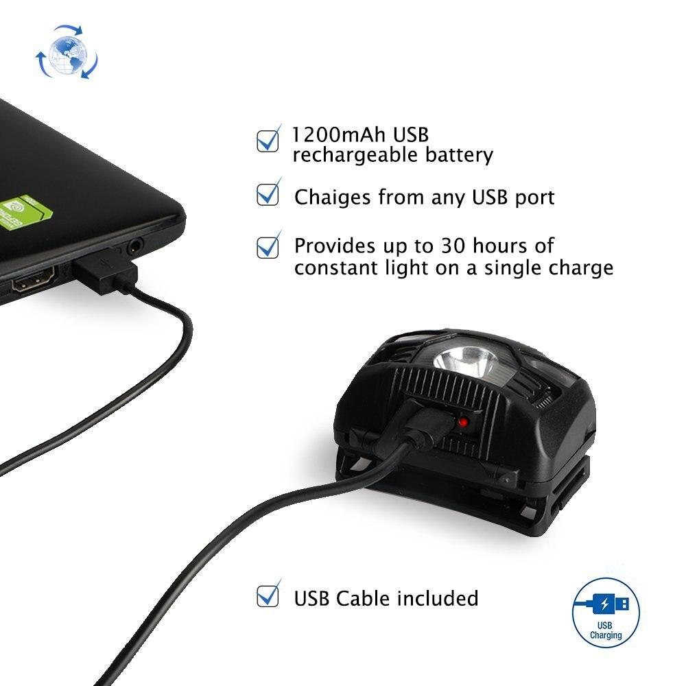 Cree 5 Вт светодиодный датчик движения тела налобный фонарь