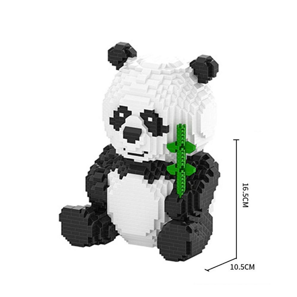 Créateurs LegoINGlys chauds classique intéressant animal de compagnie panda mini Micro diamant blocs de construction modèle MOC briques à monter soi-même jouets cadeau