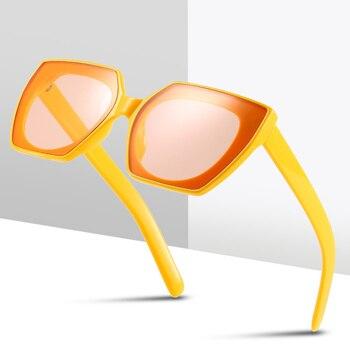 fashion rimless oversize women sunglasses panther sunglasses for women oculos feminino in summer luxury eyewear for fashion lady 2020 New Fashion Colorful Cateye Sunglasses Women Vintage Plastic Eyewear for Women Retro Shopping Oculos De Sol Feminino UV400