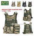 Men Combat Armor Army Uniform Adult Chest Rig Swat Tactical Molle Vests Military Airsoft Gear Hunting Sniper Camouflage Clothes