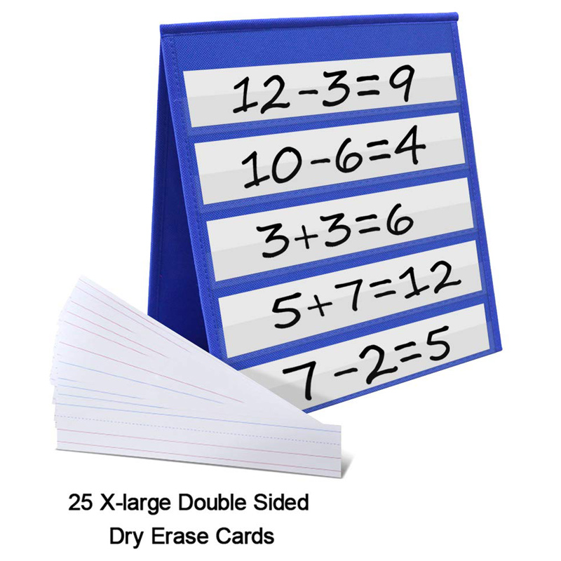 Desktop Pocket Chart Teaching Double-sided Self-standing Foladble For Classroom MYDING