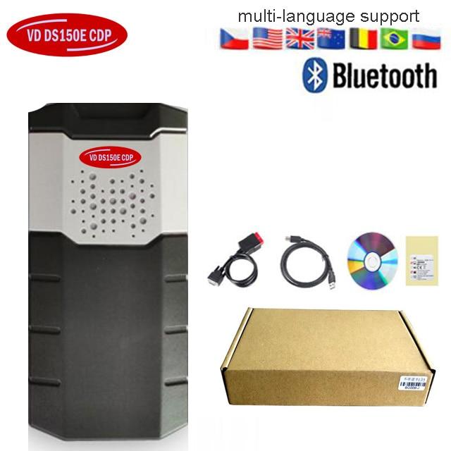Obd Obd2 сканер для delphis vdijk autocoms pro. R0 VD DS150E CDP BLUETOOTH автомобили Грузовики диагностический инструмент+ 8 шт. автомобильные кабели - Цвет: withbluetooth