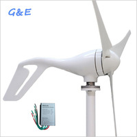3 5 Blades 400W Wind Power Generator With Wind Turbine Charge Controller For Street Light and Boat Use