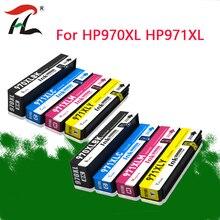 2 סט עבור HP 970 971 970xl 971xl תואם דיו עבור HP Officejet Pro X451dn X451dw X551dw X476dn X476dw x576dw