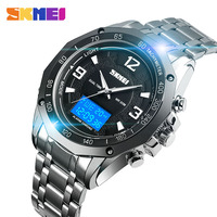 SKMEI Sport Men Watches Digital Wristwatches Dual Display Waterproof Luminous Silver Black Fashion Colors relogio masculino 1504