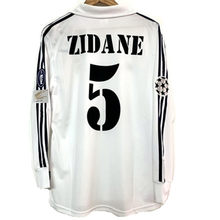 02 MadridES Retro ZIDANE Vintage Jersey Shirt Men's Long sleeve Breathable Fast Shipping