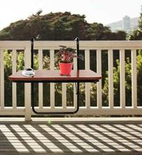 60x40x39cm składane stoły zewnętrzne składane biurko balkon wiszące balustrady stołowe żelazny stojak stół ogrodowy camping tanie tanio CN (pochodzenie) Na zewnątrz tabeli Meble ogrodowe