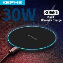 30W qi Drahtlose Ladegerät für iPhone 11 12 X XR XS Max 8 schnelle wirless Lade für Samsung Xiaomi huawei telefon Qi ladegerät wireless
