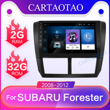CARTAOTAO 9 дюймов 2din для Subaru Forester 2.5D HD 2008-2012 автомобильный Радио Мультимедиа Видео плеер навигация gps Android 8,1 GO 2DIN