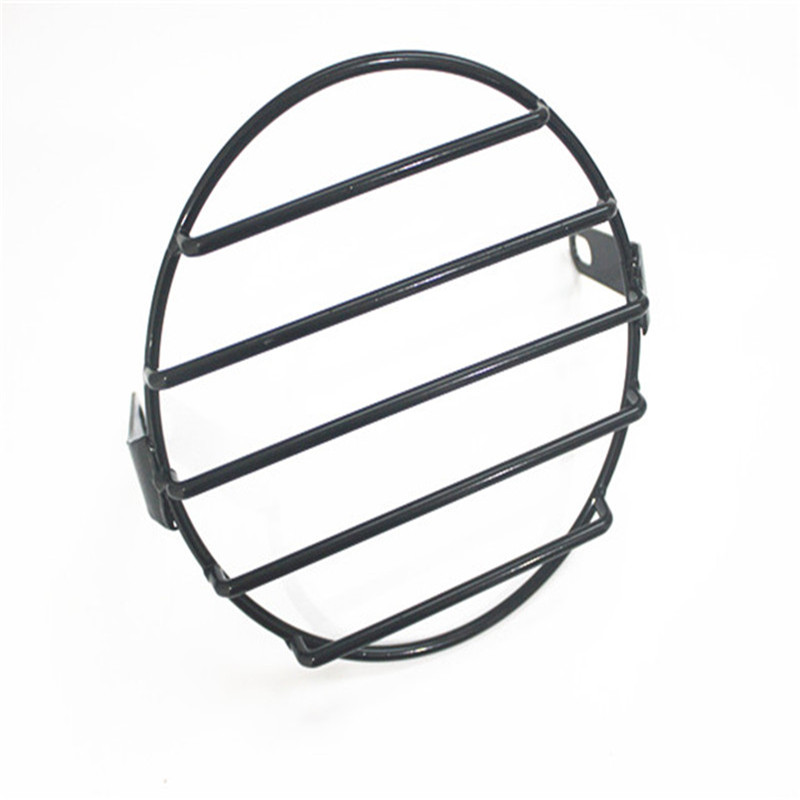 lowest price 1pcs 6 5inch Metal Retro Motorcycle Headlight Lamp Mesh Grille Cover Mask For Honda Cafe Racer Motor Parts Grid strips stars