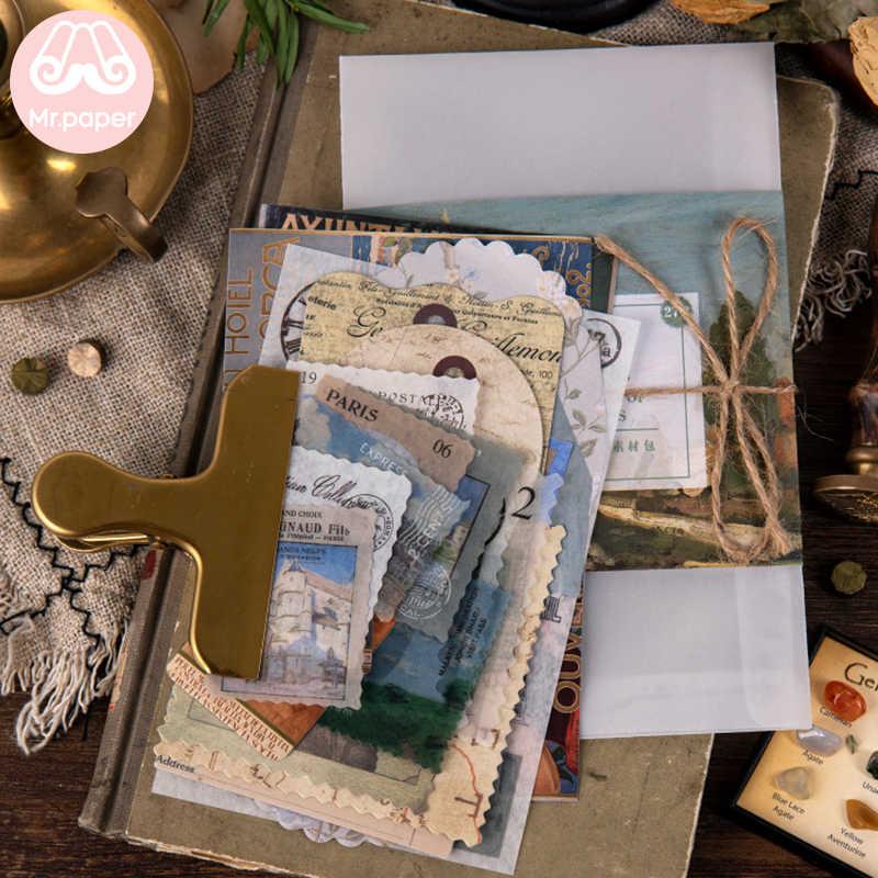 Mr. Papier 40 Stks/zak Art Geschiedenis Paddestoel Ginkgo Huisdier Deco Dagboek Stickers Scrapbooking Planner Decoratieve Briefpapier Stickers