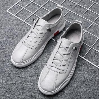 Men Flats Shoes Footwear Young Casual Designer Hard-Wearing Casual Men Sneakers Black Brown S2807-2811 C1
