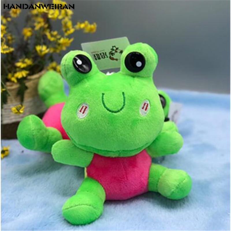 19CM Stuffed Plush Toys New 1Pcs Frog Plush Toy Holiday Gift Animal Cheap For Childs&Girls&Boys Drop Shipping HANDANWEIRAN