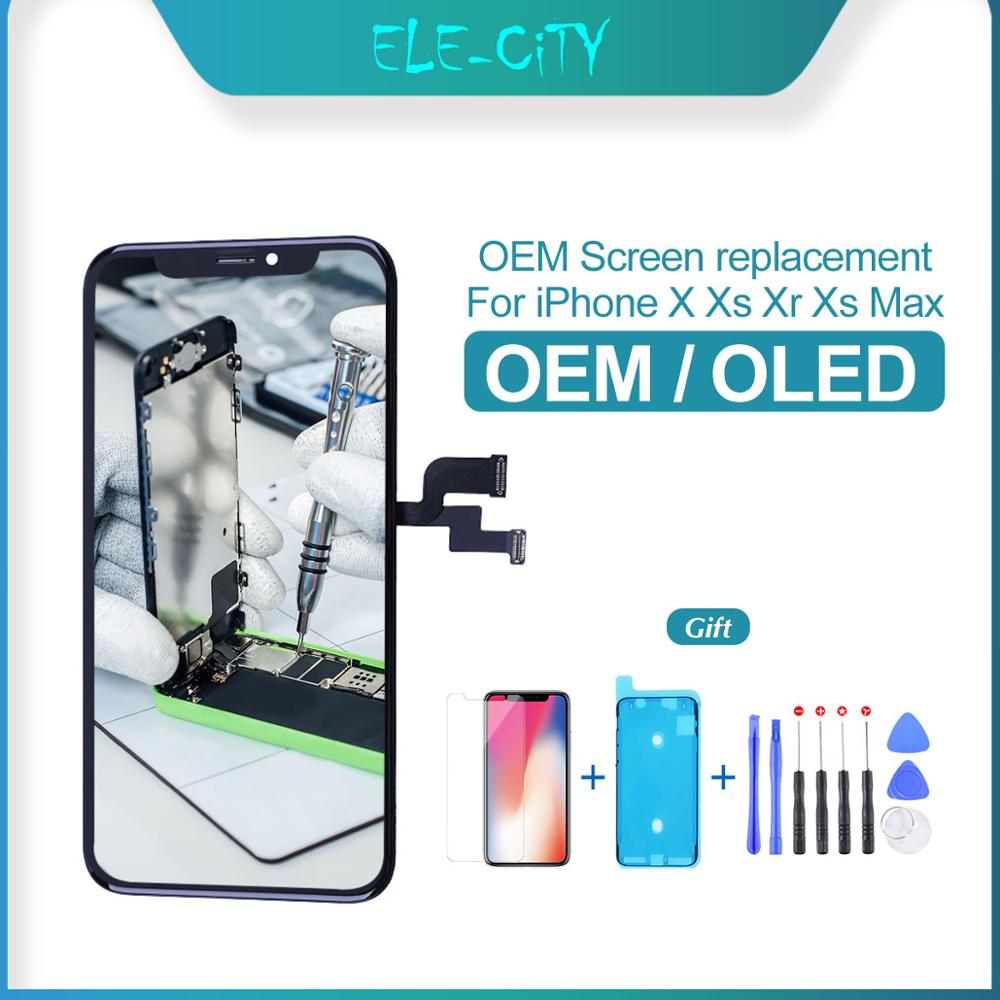 OEM For iPhone X XS XS MAX OLED LCD Touch Screen with 3D Touch OLED Display Digitizer Assembly Replacement True Tone Supported