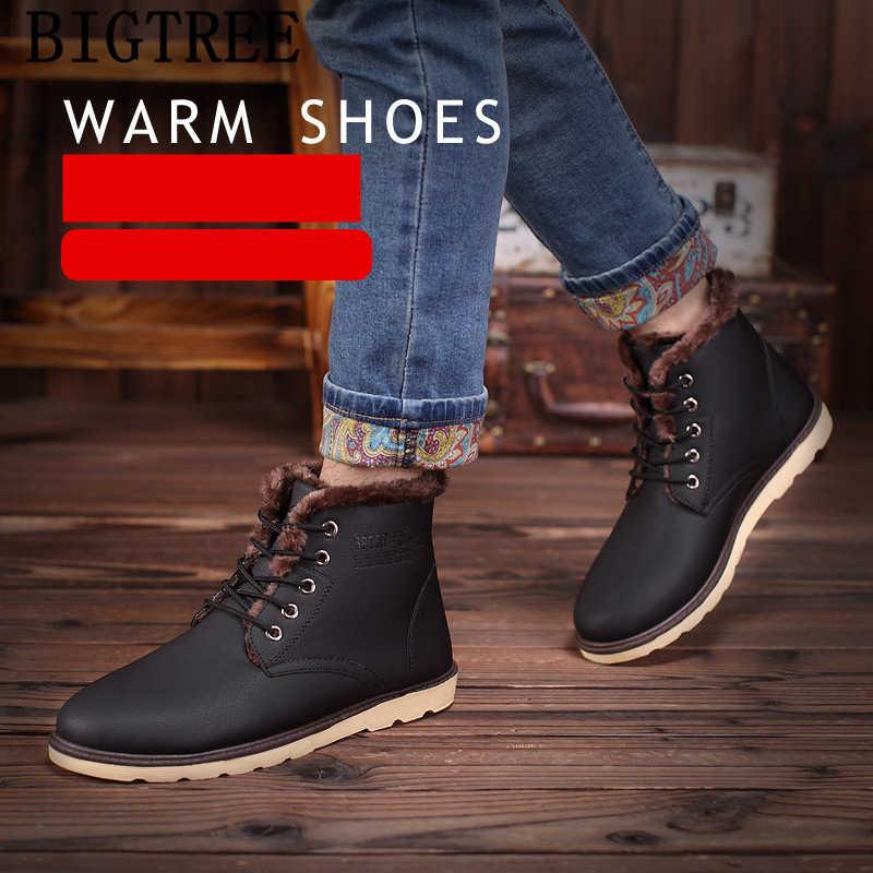 革ブーツ男性の雪のブーツ冬シューズメンズアンクルブーツ男性 Zapatos デ Hombre Erkek Ayakkabi ボタ Masculina Sepatu Pria
