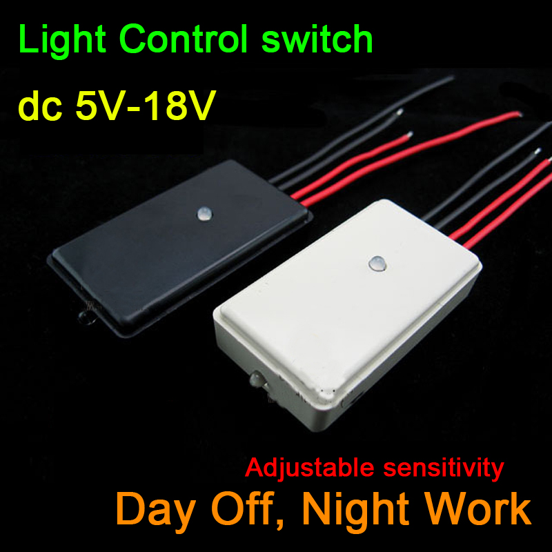 DC 5V~12V Light Control Switch/ LED Lamp Control Switch/Night Work / day Off Light Sensor Switch for Corridor Hotel Family|Battery Accessories| |  - title=