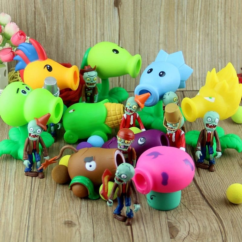 Plants VS Zombies Action Figure Toy Peashooter Chomper Zombie Anime Figure Model Funny Toys For Children