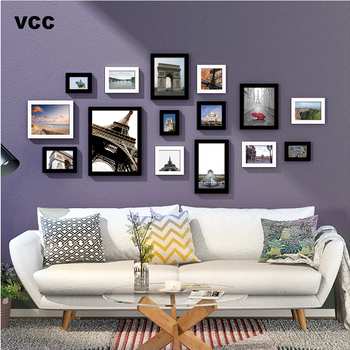 15Pcs/Set Wood Picture Frames For Wall Hanging, Photo Frame Wall With Pictures Classic Wooden Frame For Home Decoration
