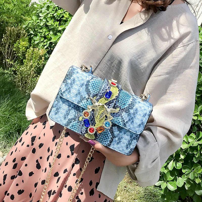 Serpentin Luxus Handtaschen Frauen Taschen Designer Marke Ketten Schulter Taschen Umhängetasche Kleine Breite schulter gurt Sac ein Haupt
