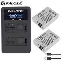 PALO 2 piezas LP-E8 LP E8 LPE8 1800mAh batería de la Cámara + LED cargador Dual para Canon EOS 550D 600D 650D 700D rebelde T2i T3i T4i T5i