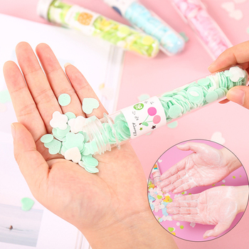 1 Bottle Travel Mini Soap Outdoor Body Bath Hand Washing Confetti Dish Foaming Flower Paper Soap Slice Case Disposable Cleaning