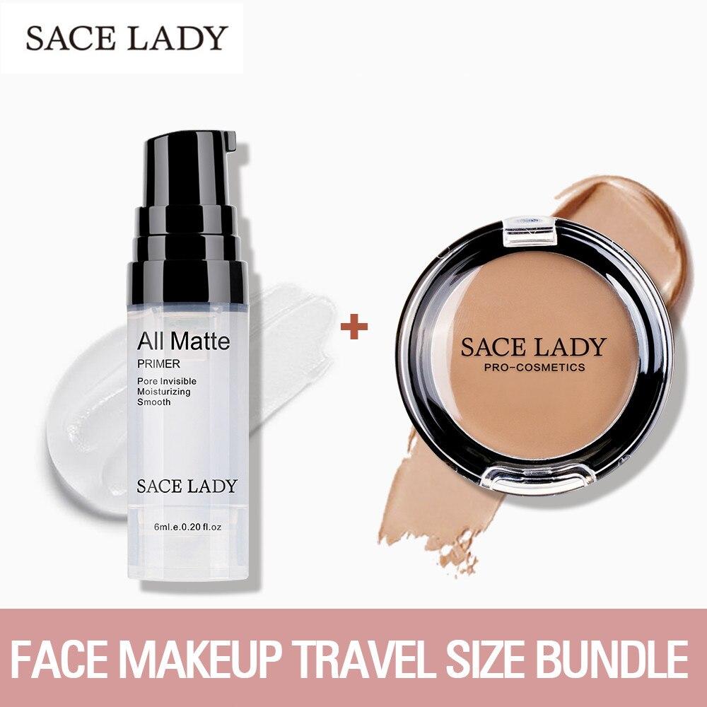 SACE LADY Face Base Primer Makeup Set Liquid Matte Concealer Make Up Oil-control Face Corrector Primer Cosmetic