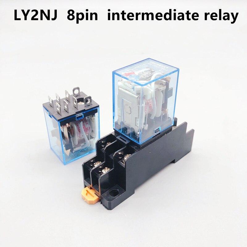 1pc ly2nj hh62p HHC68A-2Z micro eletrônico mini relé eletromagnético 10a 8pin bobina dpdt com base de soquete dc12v, 24v ac110 ac220v