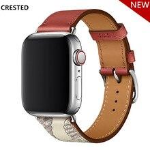 Кожаный ремешок для apple watch, ремешок herm Pulseira, apple watch 5, 4, 3, 44 мм, 40 мм, iwatch, ремешок 42 мм, 38 мм, браслет для часов correa