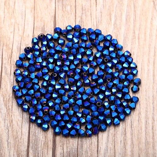 Яркие фиолетовые AB 4 мм 100 шт Австрийские хрустальные биконусные бусины 5301 свободные хрустальные бусы ожерелье браслет ювелирные изделия ручной работы S-61 - Цвет: 09