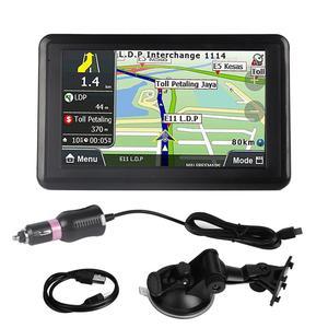Image 1 - أداة ملاحة للسيارة مزودة بنظام تحديد المواقع DDR256M 8G MP3 FM خريطة أوروبا 508 ملحقات السيارة شاشة لمس 5 بوصة عالمية