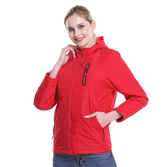 ZYNNEVA Outdoor Hiking Electric Heated Jacket Women Winter Usb Heating Windbreaker Female Feather Cotton Thermal Clothing GK2218 2
