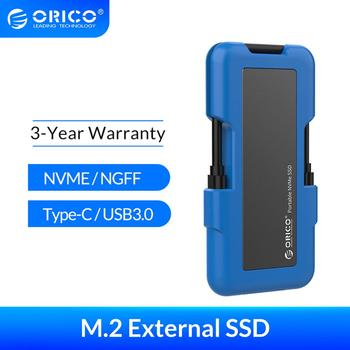 eaget m1 type c 128 256gb type c usb 3 1 external hard disk portable ssd m1 type c mobile solid state drive with data cable ORICO External SSD M.2 NVME NGFF SSD 1TB SSD 128GB 256GB 512GB hard drive Portable SSD Solid State Drive with Type C USB 3.1