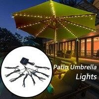Dropshipping 72LED Patio paraguas luces impermeable exterior cuerda luces Solar 2019 gran oferta accesorios herramienta Navidad hogar