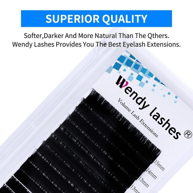 16 Rows Individual Eyelash Extension Faux Mink Eyelashes Thick Natural False Eyelashes Mink Classic Eyelash Extension Cilia 4